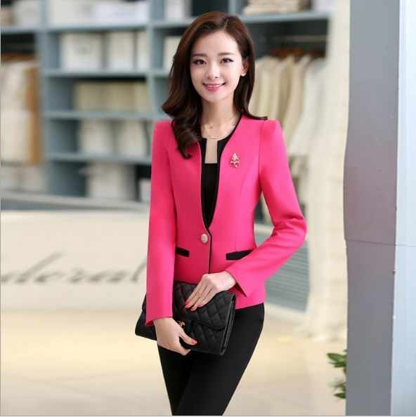 04c1dd0ac4 Ladies Business Casual Trousers Suit Women Pant Suits for Women  Blazer+Pants 2 Piece Set Workwear Outfit Black White Blue Pink