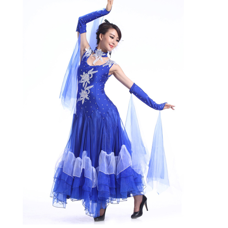 Ladies Standard Ballroom Dance Dress Women Stage Costumes For Singers Practice/Performance/Competition Tanto/Jazz/Waltz Dresses