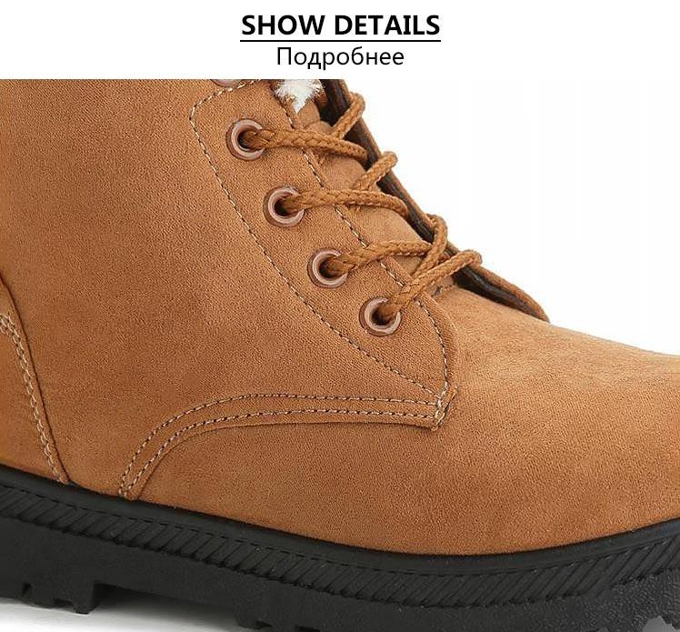 Women Shoes lace-up Winter Shoes 25