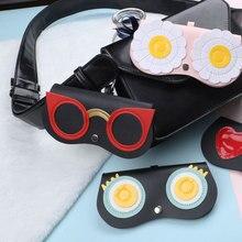 NALOAIN Sunglasses Case Women PU Leather Cute Cartoon Eye Glasses Bag Storage Protection Sun Box