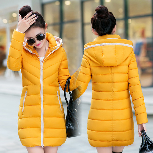 2016 Top Fashion Zipper Winter Long Cotton padded Jacket Dress Thickening Clothes Plus size Coat Of