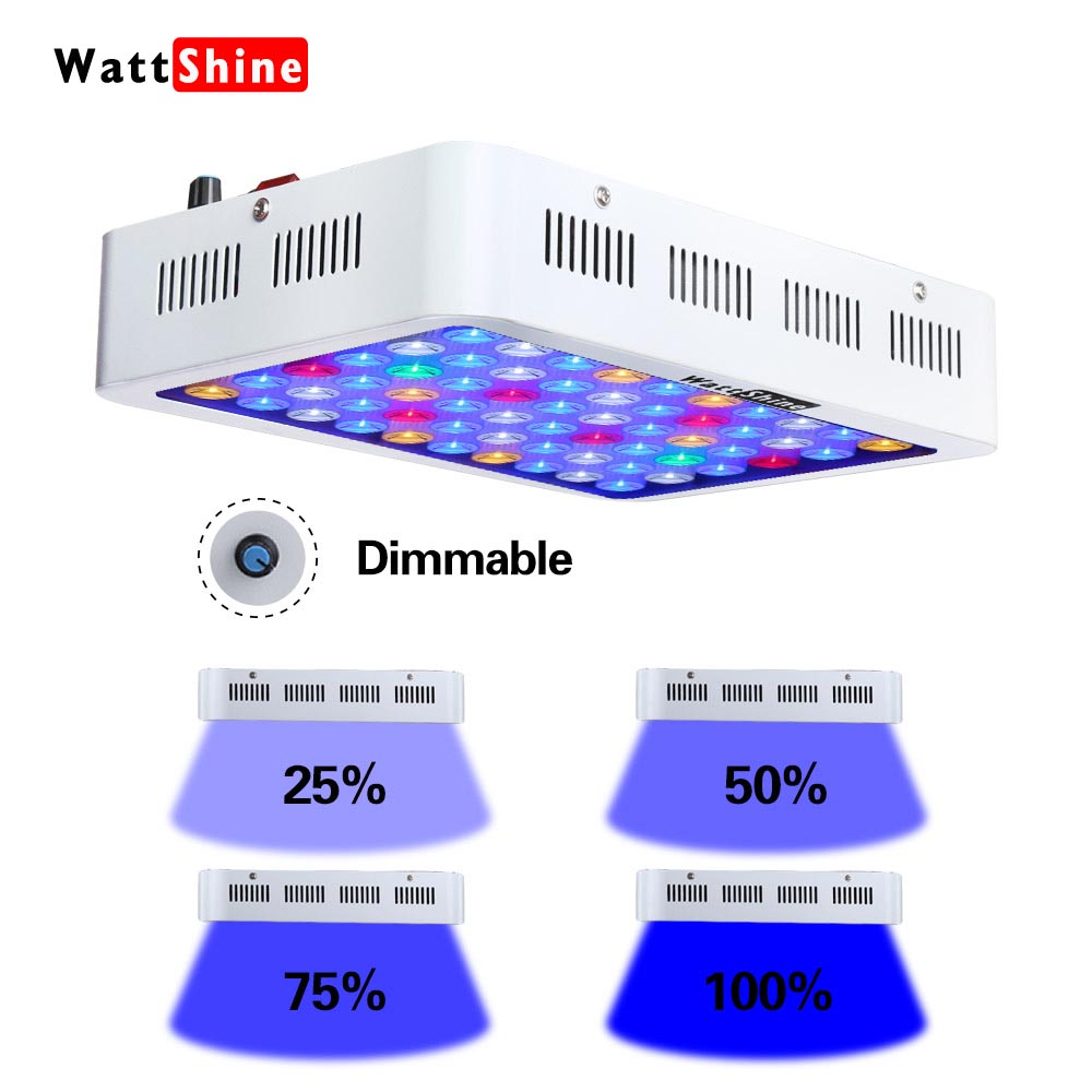 LED Aquarium Light Fixture 36x24 Full Color Spectrum Saltwater Coral Fish Tank Grow Light Freshwwater Plant Extendable Pond