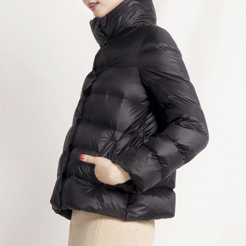 White Duck   Down   Jacket Women Winter Slim   Down     Coat   Single Breasted Parkas Winter Jackets Girl Short Outwear Bread service Z5827