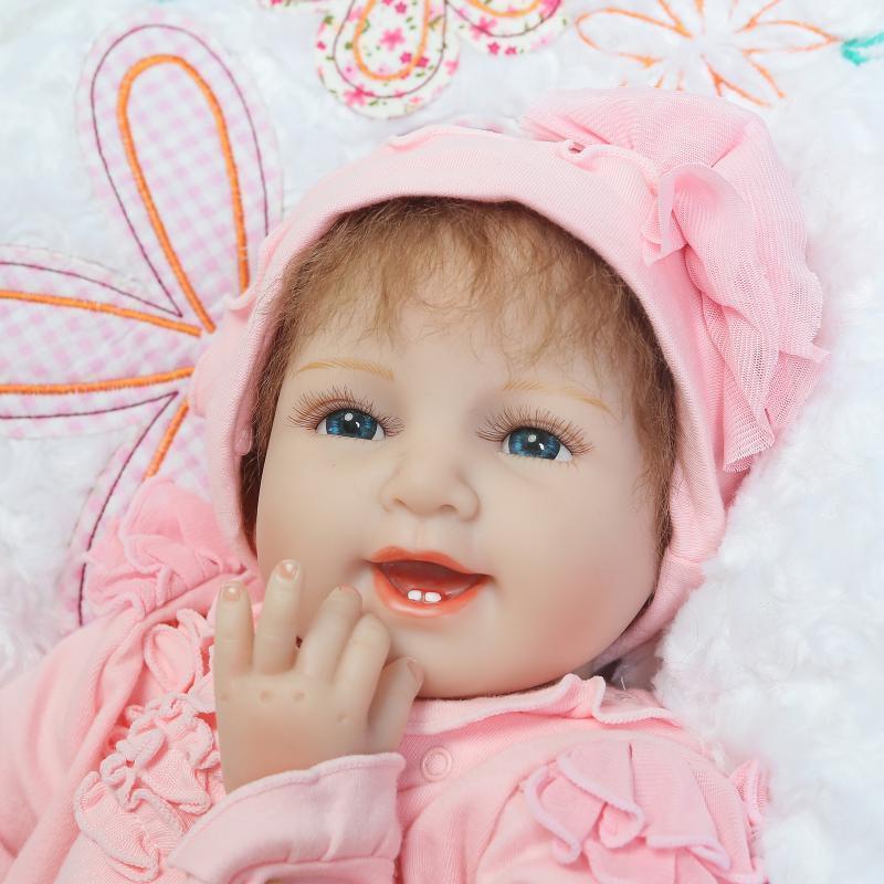 Doll Baby D093 55CM 22inch NPK Doll Bebe Reborn Dolls Girl Lifelike Silicone Reborn Doll Fashion Boy Newborn Reborn Babies цена