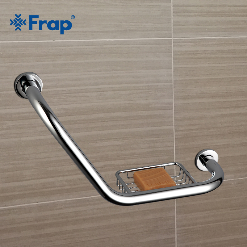 Frap new Bathroom Bathtub Arm Safety Handle Grip Bath Shower Tub Grab Bar Stainless Steel Anti Slip Handle Grap Bar F1719