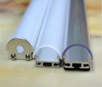 100 ~ 300 cm LED Strip Ánh Sáng Nhôm Dùng Cho Thẳng Kệ Tủ hoặc Tủ, có sẵn Cho Rõ Ràng, Opal Ống Kính Diffuser
