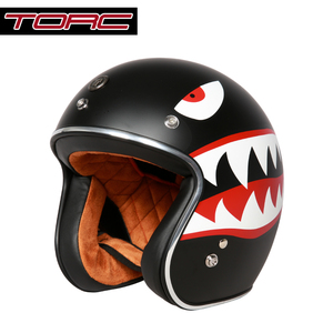 Image 2 - בציר moto rcycle קסדת TORC T50 פתוח פנים DOT אישר חצי קסדת רטרו moto casco capacete moto ciclistas capacete