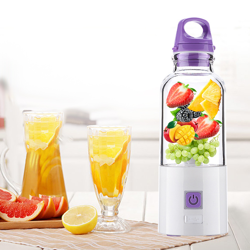 Multifunctional Portable USB Charge Electric Juicer Cup Juice Extractor Blender Fruit Juice Machine With 4 Sharp Blades