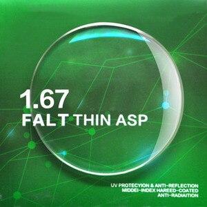 Image 2 - Линзы Handoer с высоким индексом 1,67, антирадиационная защита, асферические линзы с одним зрением и защитой от УФ лучей, линзы по рецепту, 2 шт.