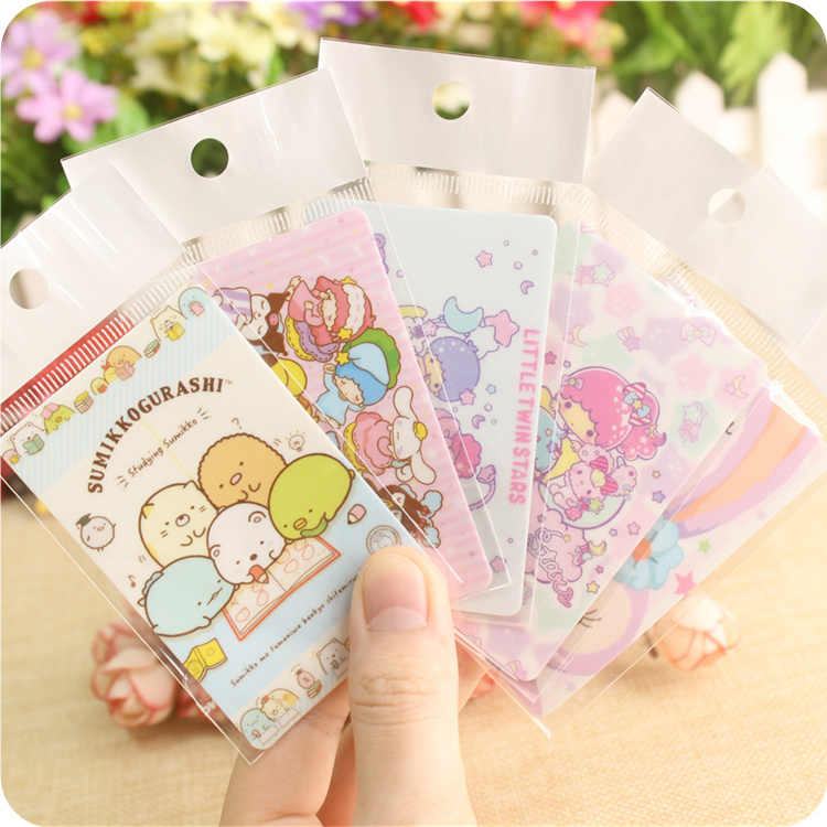 1pc Cute my melody Mickey San-x Sumikko Stickers for credit card Bus Card Stickers gifts for girls