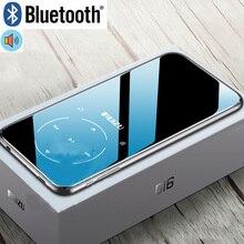 Металлический RUIZU D16 портативный спортивный Bluetooth MP3 плеер 8 ГБ Мини с экраном 2,4 дюйма Поддержка FM, запись, электронная книга, часы