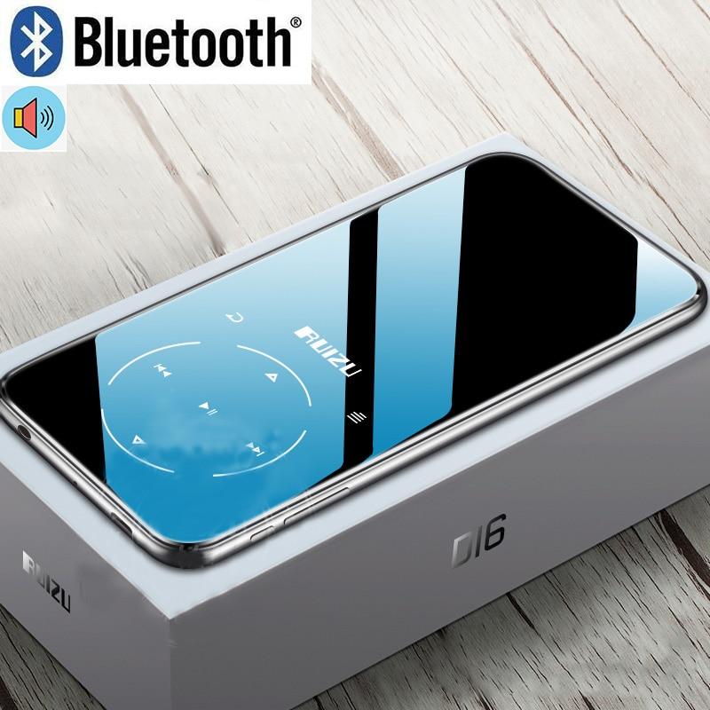 New Metal Original RUIZU D16 Portátil Esporte Bluetooth MP3 Player 8gb Mini com 2.4 polegada de Tela FM Apoio, gravação, E-Book, Relógio