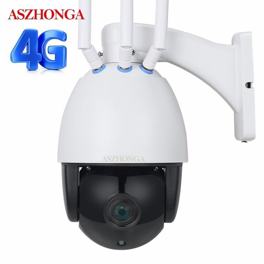 Sans fil PTZ IP Caméra Wifi 3G 4G SIM Carte HD 1080 P 5X Zoom CCTV Sécurité Surveillance Vitesse caméra dôme Extérieure 50 M IR Cam