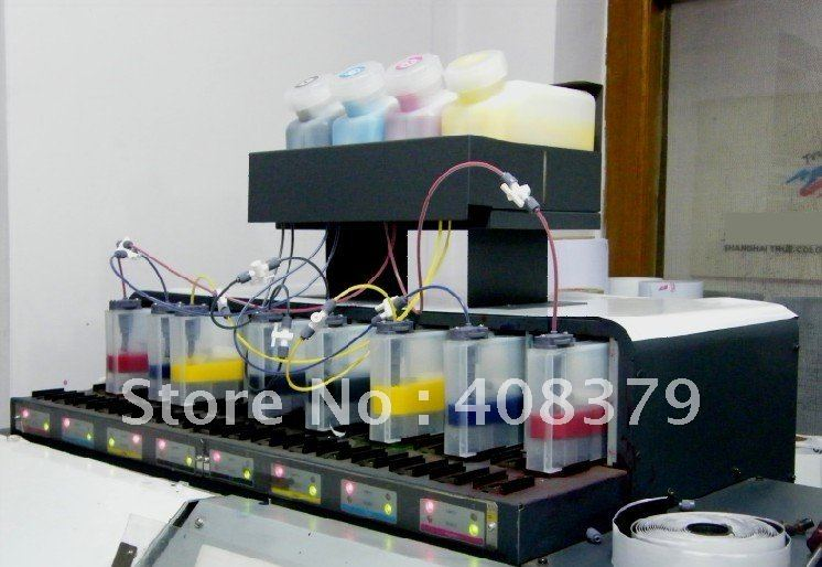 Empty bulk ink system with permanent chip for Mimaki JV33 BS1 printer ( 4tanks+8 cartridges+ 8 permanent chip)