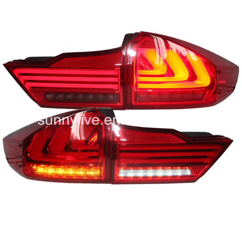 2014-2015 For Honda city led rear light back light 3 LED strips YZ  Red Smoke