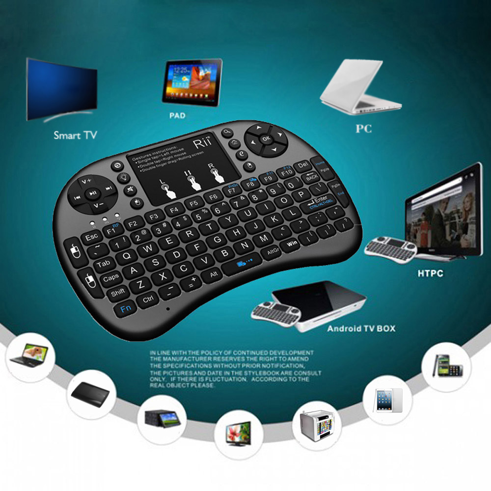 c5c17e78710 Rii i8+ 2.4G Mini Wireless Keyboard with Backlit Backlight Multi touch  Touchpad US Layout Handheld for Andriod TV Box HTPC PC -in Keyboards from  Computer ...