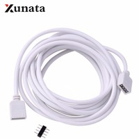 1M 2M 5M 30cm 4 pines conector de led RGB Cable de extensión Cable de alambre con 4pin conector para tira led RGB luz envío gratis