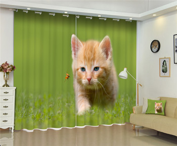 Cute Animals Gogs Cats Print 3D Curtains For  Bed room Living room Office Hotel Home Wall Decorative Drapes Tapestry