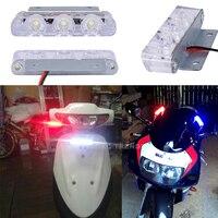 lamp dc 12v 2Pcs 3 LED Strobe Light 6W Police Flashing Warning Led Brake Light Lamp DC 12V Car Truck Motorcycle Rear Brake Stop Led Lights (5)