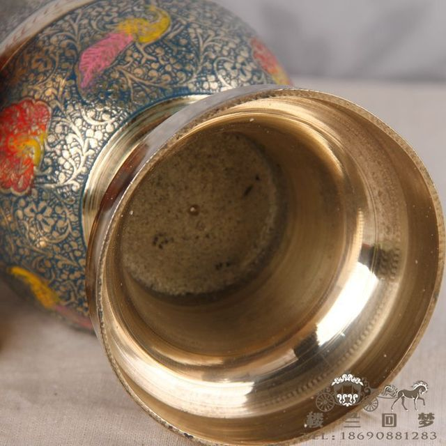 Indian Handicrafts Wholesale Bronze Bronze Vase 16 Inches Bar To Bar