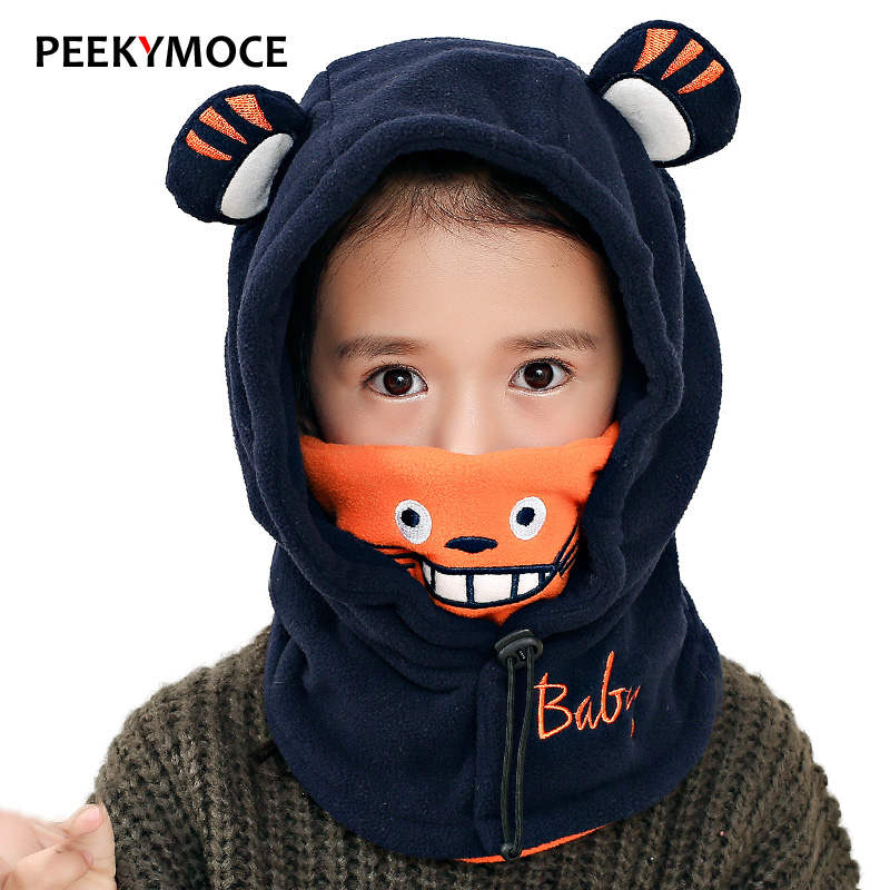 Peekymoce balaclava for children   Skullies     Beanies   for boy girls full face mask winter hat Breathable balaclava winter kids hat