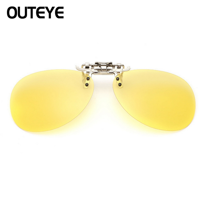Outeye Goggles Clip On Sunglasses Polarized Sun Glasses Driving Night Vision Lenses Flip Up Eyeglasses Uv Eyewear Mens Womens W4 Curing Cough And Facilitating Expectoration And Relieving Hoarseness Women's Glasses