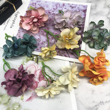 YOOROMER 1pcs High-Quality Hydrangea Artificial Flower For Bride Wedding Decoration DIY Scrapbooking Craft Fake Flowers(China)