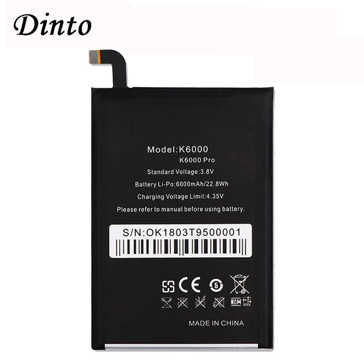 New Original For Oukitel K6000 6000mAh High Capacity Battery Replacement Smart Phone Batteries For Oukitel K6000 PRO Phone