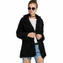 New Winter Casual Warm Long Sleeve Parka Women Basic Faux Fur Coat Female Windbreaker Outerwear Overcoat Lady Suit Manteau Femme
