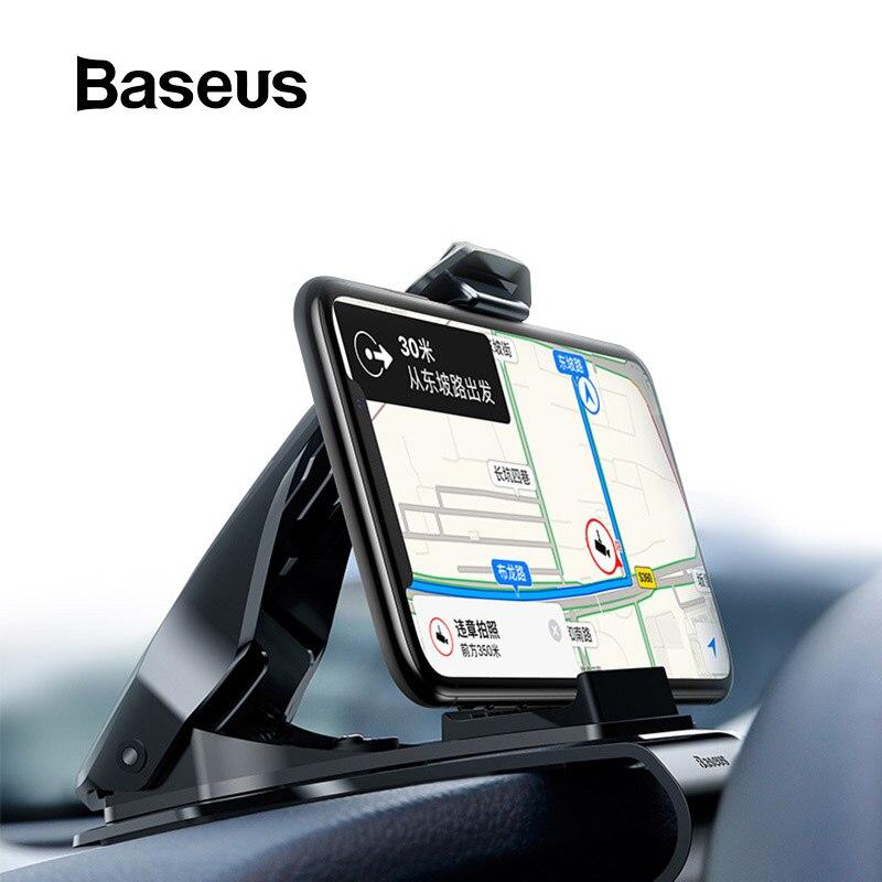 Baseus Dashboard Auto Telefon Halter für iPhone X Einstellbare Clip Halterung für Samsung Telefon Griff Handy Halter Stehen