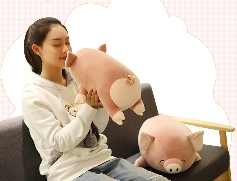 small cute plush pig toy soft brown love pig doll gift about 40cm 2671