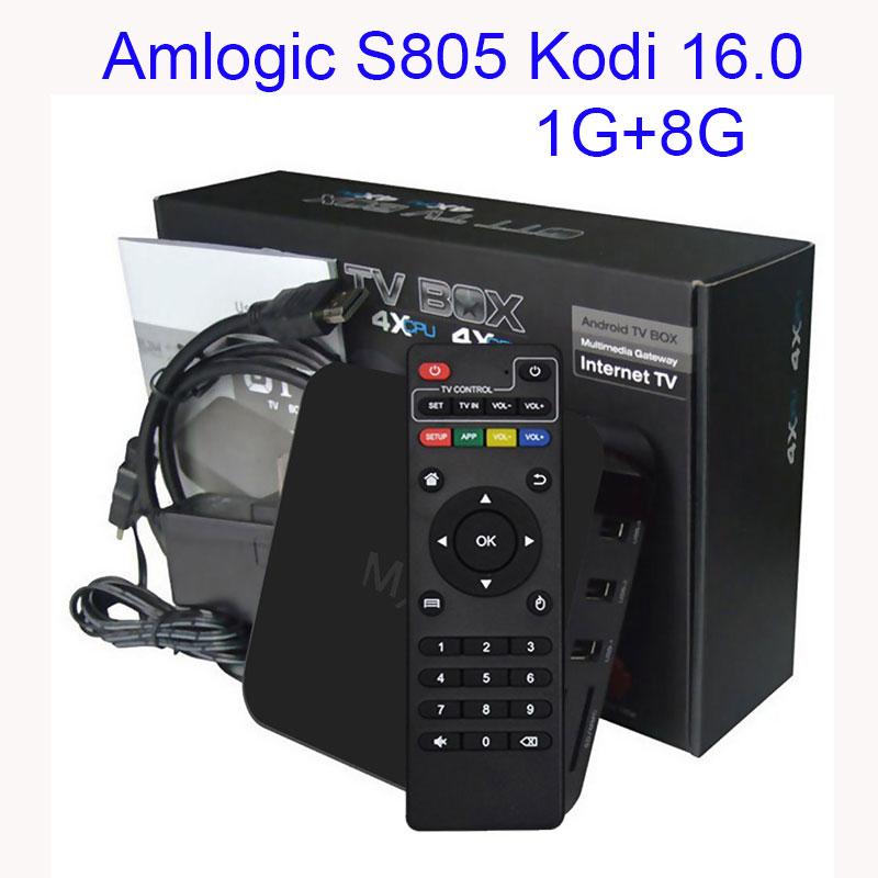 Prix pour 5 pcs/lot Android tv box Android 4.4 Boîte Amlogic S805 Quad HDMI 2.0 Kodi 16.0 Chargé ajouter-ons WiFi 4 K 1080 P WiFi Smart TV BOÎTE