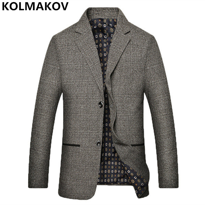 2018 New Arrival Fashion Men's Blazers Slim Fit Blazers Men Suits Jackets Cotton Grey Blazer Plus Size 3XL High Quality Blazers