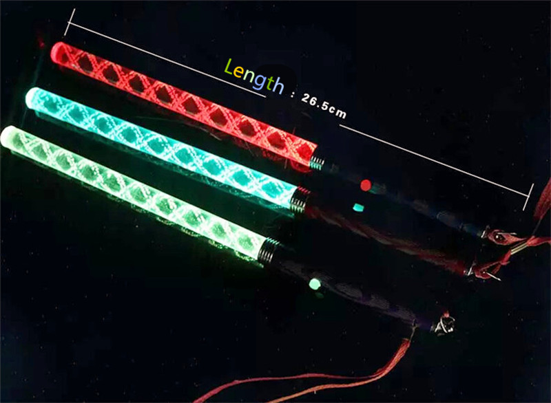 12 Light-Up White Sticks Flashing Patrol Wands LED Glow Blinking Rave Party EDC