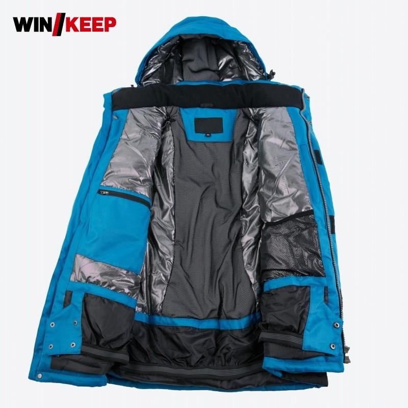 Brands Ski Jacket Men Winter 2019 New Waterproof Breathable Warm Outdoor Snow Coats -30 Degrees Skiing Snowboard Jacket Men Coat