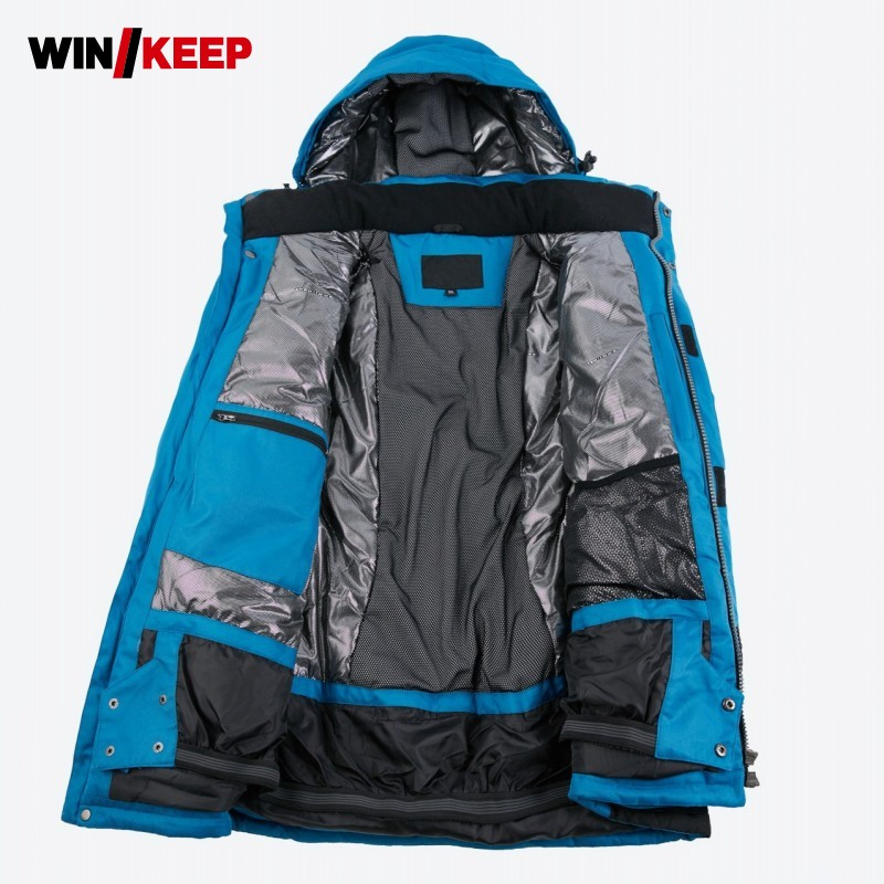 Brands Ski Jacket Men Winter 2019 New Waterproof Breathable Warm Outdoor Snow Coats 30 degrees Skiing Snowboard Jacket Men Coat
