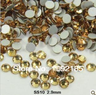 Free shipping ! AAA+ SS10 1440pcs/Pack 2.8-2.9mm Light Colorado Topaz color  rhinestone flat back flatback rhinestones цена