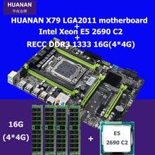 HUANAN 2,49X79 motherboard CPU RAM set X79 LGA 2011 motherboard Xeon E5 2690 C2 CPU RAM (4*4) 16G DDR3 REG ECC 2 jahre garantie