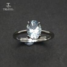 Женское кольцо с натуральным аквамарином tbj подарочное Ювелирное