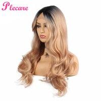 Plecare Lace Front Wig Synthetic Wig Pruik Lang Hair 26inch Blonde Pruiken Voor Zwarte Vrouwen Ombre Hair Synthetische Kant Wigs