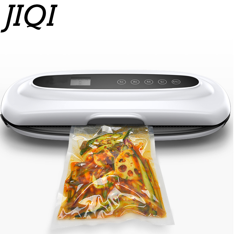 JIQI Food Vacuum Sealer Automatic Vacuum wet and dry Sealing Packer electric Plastic Packing Machine fruits saver with Free Bags new printing pu leather backpack women shoulder rucksack university bags for teenage girls designer brand korean femme