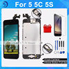 100 No Dead Pixel AAA Quality For Iphone 5 LCD Complete Display Assembly Home Button Front