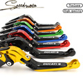 7 Colors Motorcycle Folding Extendable Brake Clutch Levers For Ducati Monster 400 620 696 796 S2R 800 620 MTS ST4S