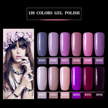 Modelones 12Pcs/Lot Fashion Purple Color Series UV Gel Nail Polish Set Led Lamp Nail Gel Lacquer Kits Soak Off UV Nail Enamel modelones 3pcs lot gel nail polish set kit semi permanent uv purple nail polish nail art soak off led uv nail salon set