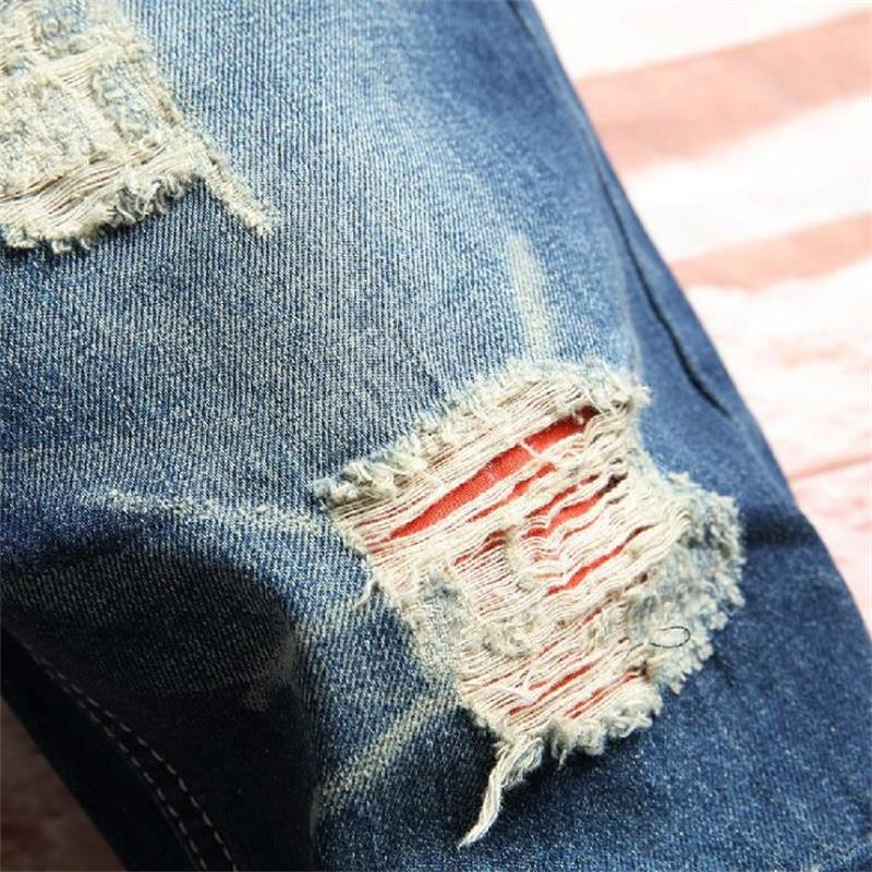 2018 new man summer Short jeans hot sale ripped jeans for men high quality hip hop fashion classic jeans men #1109