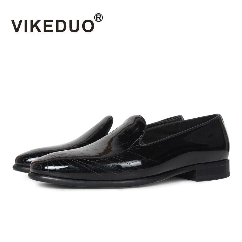 Ayakk.'ten Erkek Rahat Ayakkabılar'de 2019 Koştu Vikeduo El Yapımı Klasik erkek Mokasen 100% Hakiki Deri rahat ayakkabılar Lüks Moda Elbise Parti Özgün Tasarım'da  Grup 1