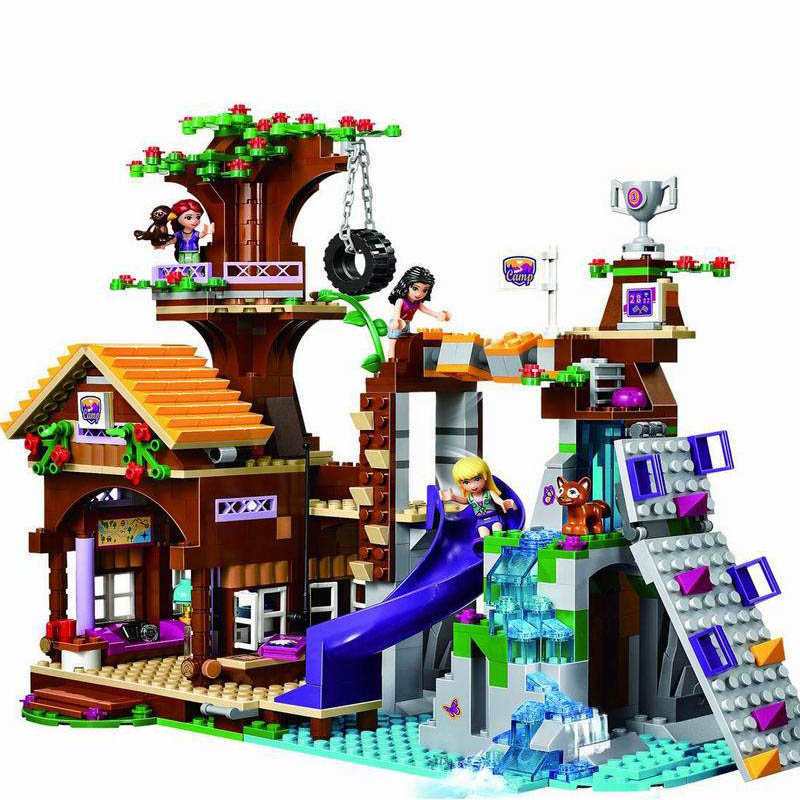 10497 Building Bricks Compatible with Friends Blocks Adventure Camp Tree House Emma Mia Figure Toys For Children [hot] 875pcs legoings adventure camp tree house model building blocks gifts toy compatible legoingly friends toys for children