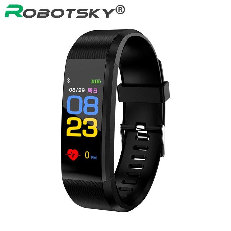 115 Smart Armband Herz Rate Sport Datum Kalorien Schrittzähler Schlaf Monitor frauen Anruf Erinnerung für Android IOS Smart Armband