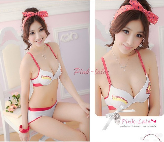 d554c95cc32 Free Shipping Super Girl Ladies Sexy Lingerie underwear   Bras Women Skirt  superman Girl s White on Aliexpress.com