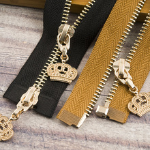 1Pc 85cm 120cm 5# Crown Metal Zipper Eco-friendly Open-end Coat Jackets Zippers For Sewing Clothes Zips DIY Craft KY964